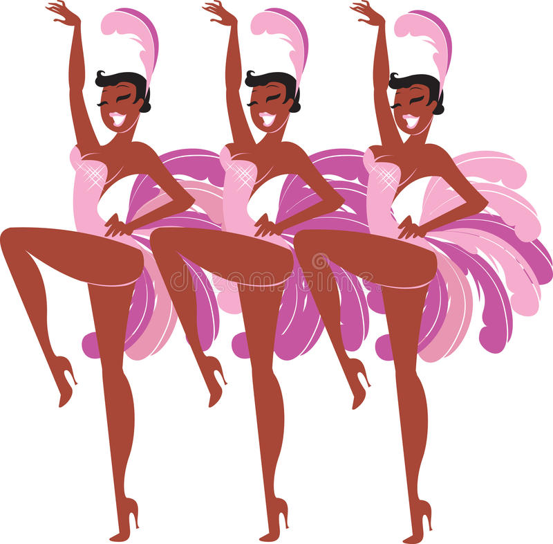 Showgirls royalty-vrije illustratie