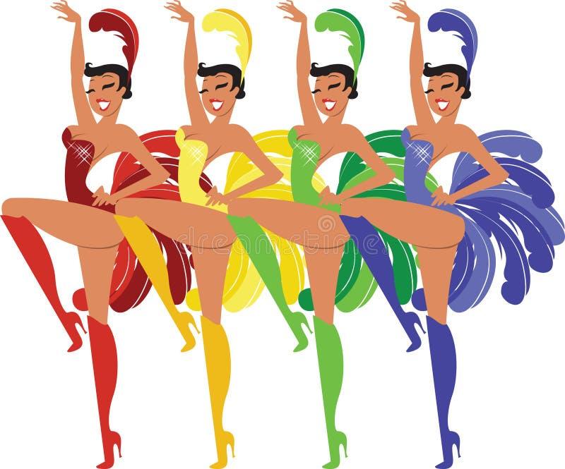 Showgirls vector illustration