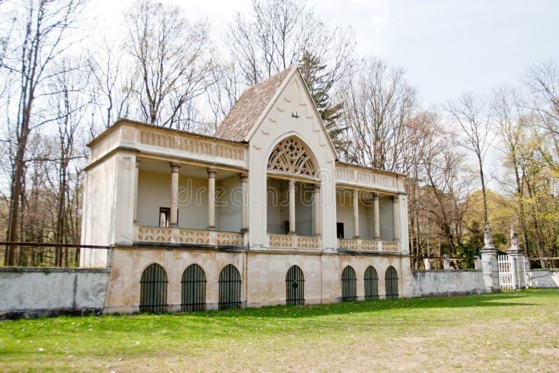 showground的凉廊在Laxenburg城堡,奥地利 免版税库存照片