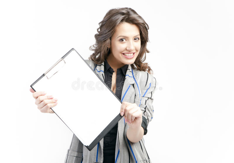 Showing Blank Clipboard Stock Photos