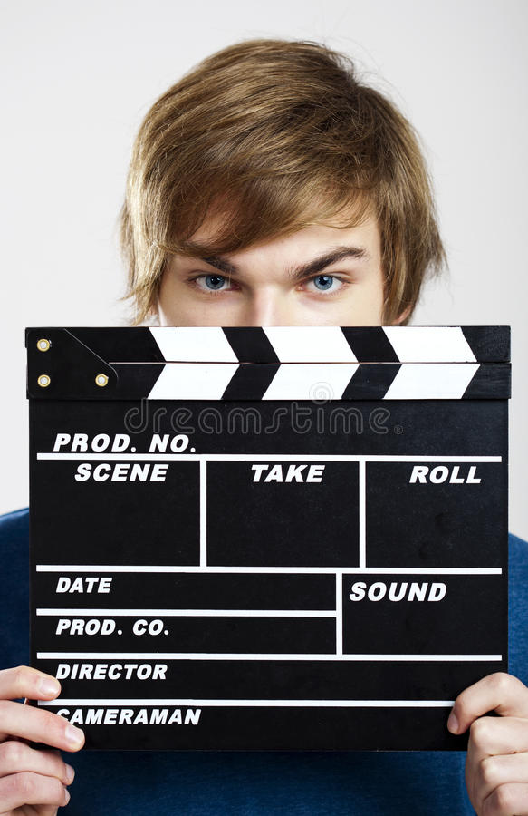 Showing A Clapboard Royalty Free Stock Images