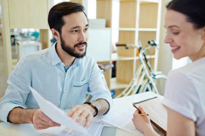 Showing contract stock photography