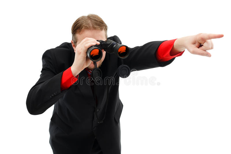 Download Showing Direction With Binoculars Stock Image - Image: 19010313