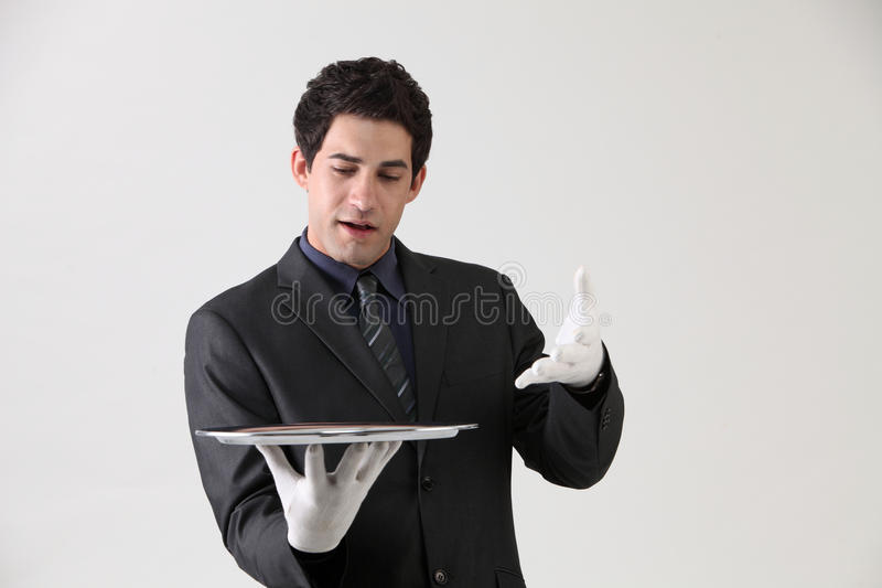 Download Showing empty tray stock photo. Image of businessman - 26105550