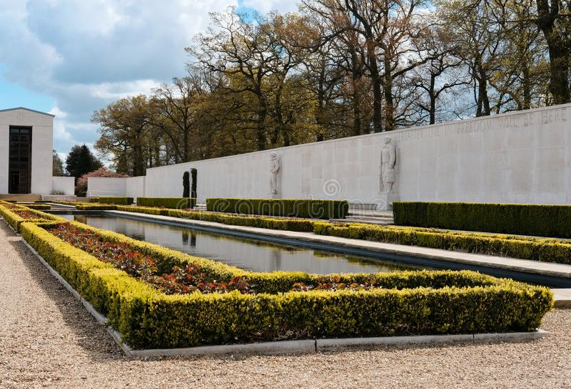 Gardens of remembrance for WW2 American war dead. royalty free stock photos