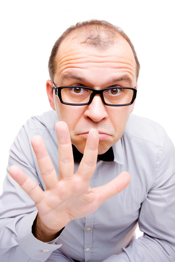 Download Showing five fingers stock image. Image of nerd, business - 17065343