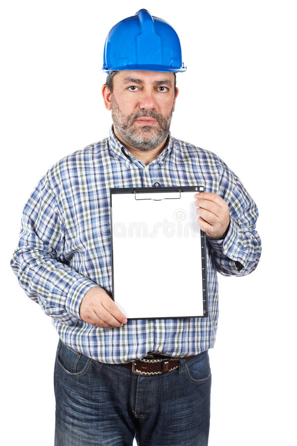 Showing a notebook stock image