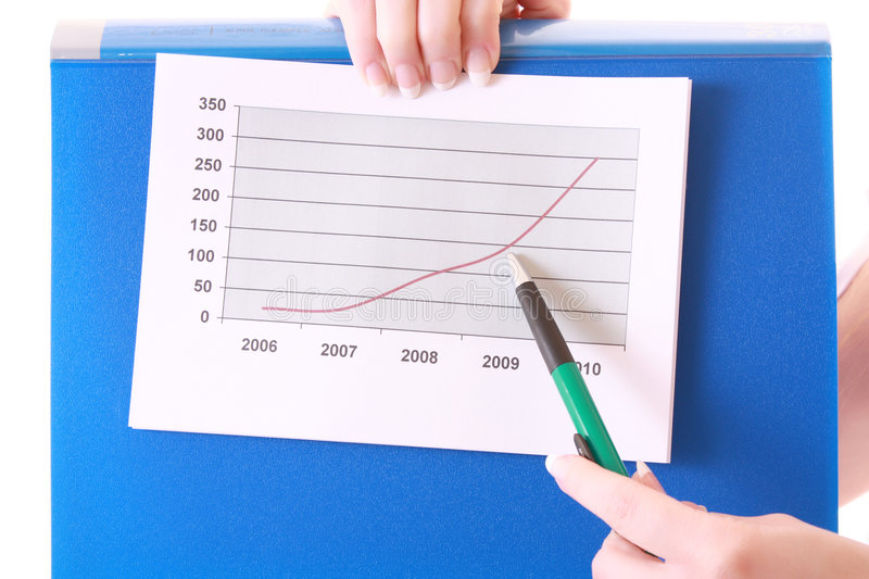 Download Showing positive chart stock image. Image of associate - 8309843