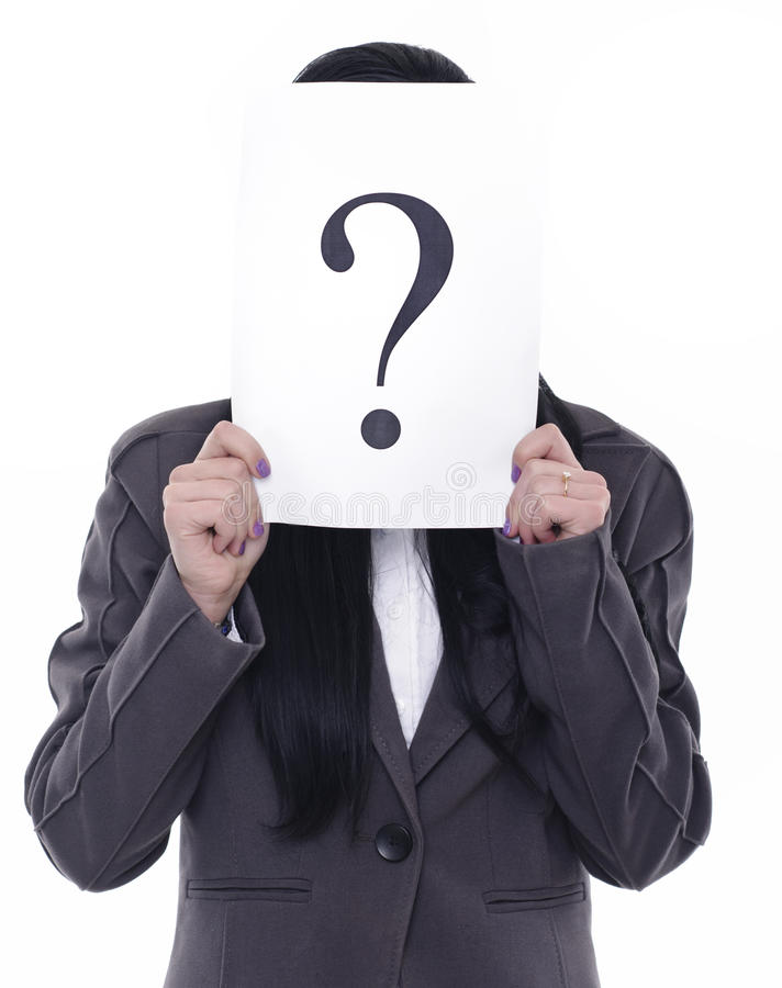 Showing Question Mark Stock Image