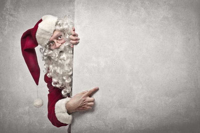 Showing Santa Claus royalty free stock image