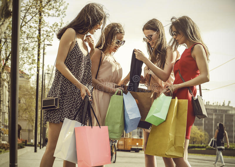 Showing shopping royalty free stock images