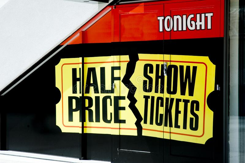 Showkarten zum halben Preis lizenzfreie stockfotos