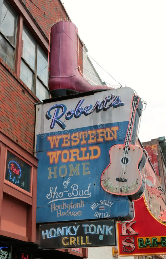Showplace Tonk западного мира Роберта белый, Нашвилл Теннесси стоковая фотография