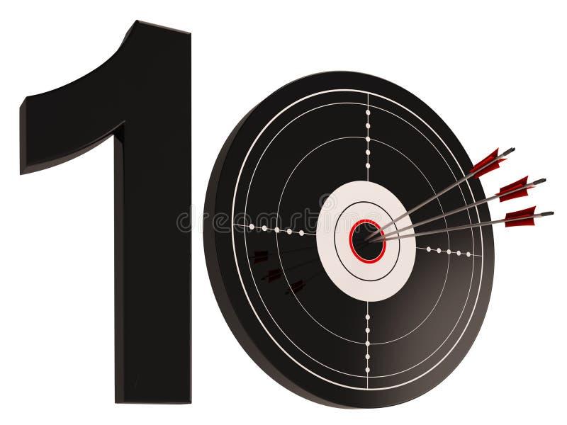 10 Shows Jahrestag oder Geburtstage vektor abbildung