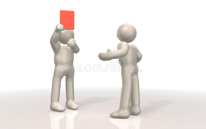 Download It Shows The Red Card. Stock Image - Image: 18973451