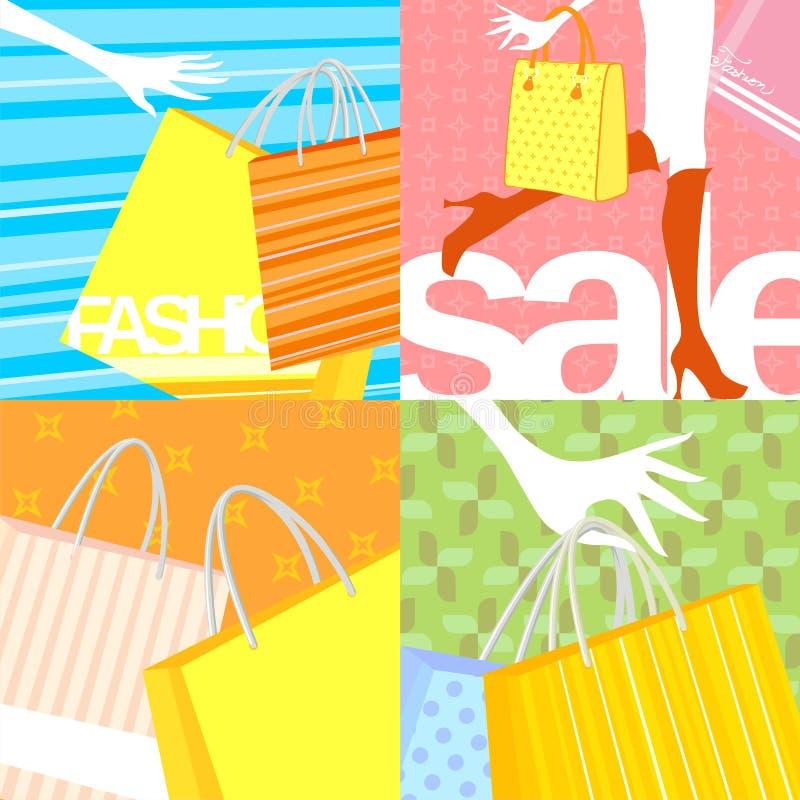 Shpping Verkauf lizenzfreie abbildung