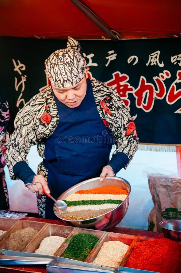 Shr de jinja de Hikawa de festival de Daitosai du marché de Tokaichi de boutique de Furikake photo stock