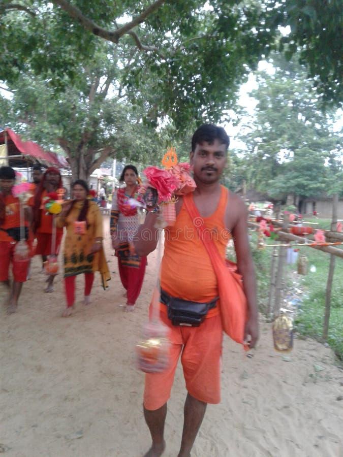 Shrawan Mela. A holly month with live a Lord Shankar stock photos