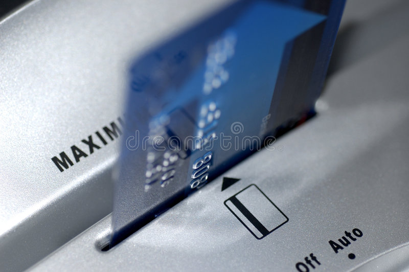 Shred the card royalty free stock photo
