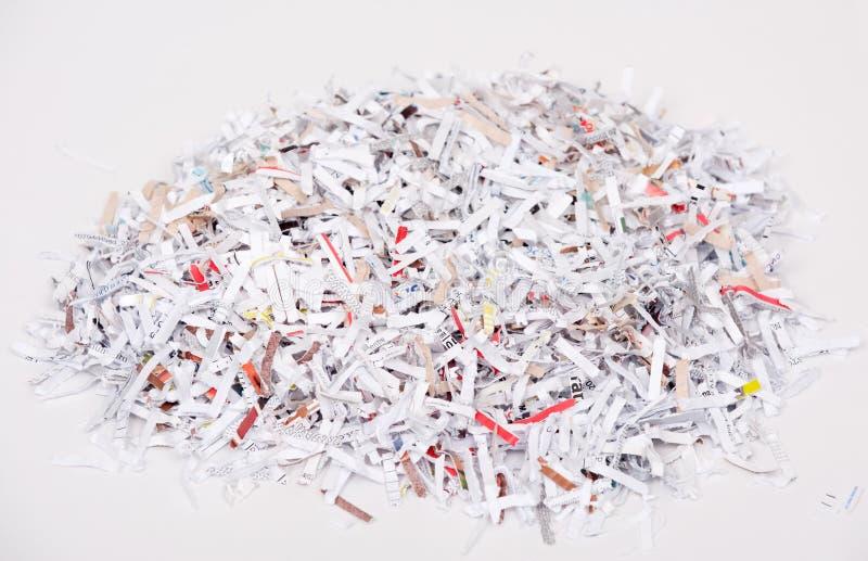 shredded бумага стоковое изображение