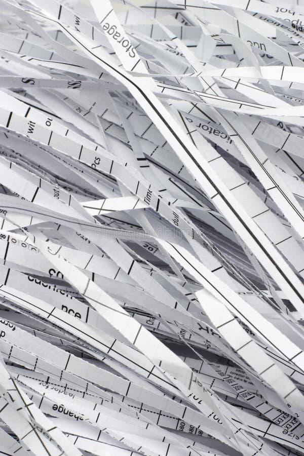shredded бумагой отход прокладок стоковое фото rf