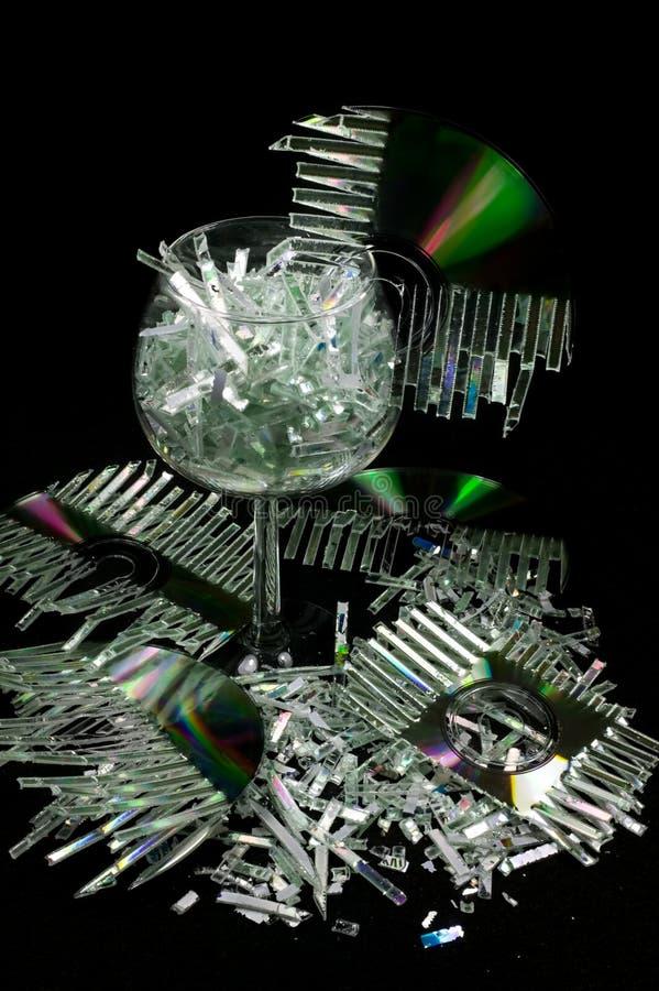 shredded диски стоковое фото