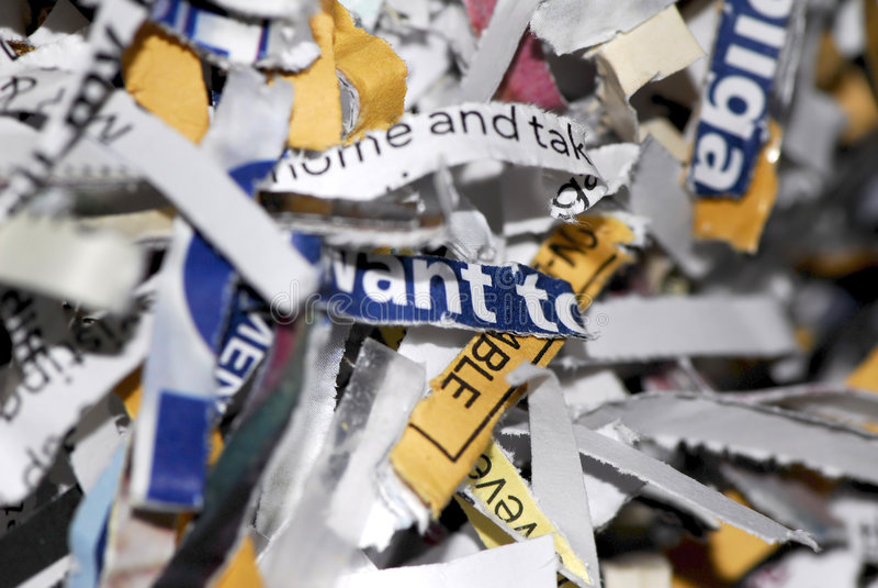 shredded стоковые изображения