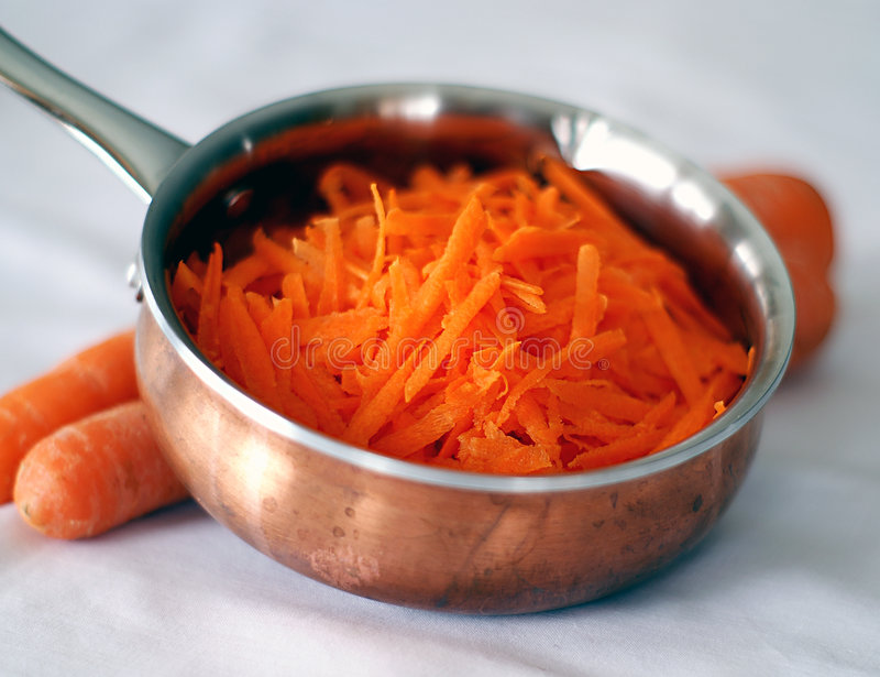 Shredded Carrots royalty free stock photo