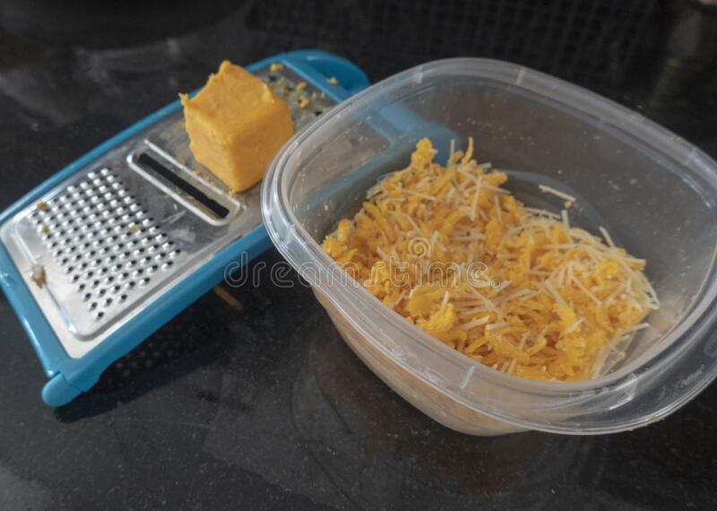 Shredded Cheese and chunk royalty free stock photography