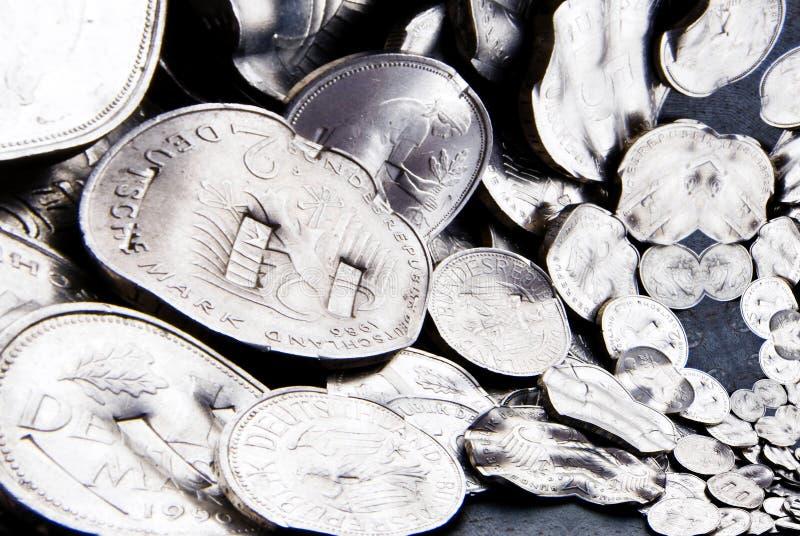 Download Shredded Mark Coins stock image. Image of debt, credit - 37115073