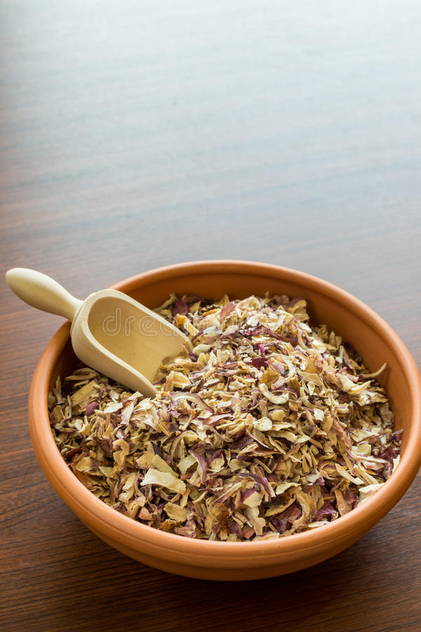 Shredded onion stock photo