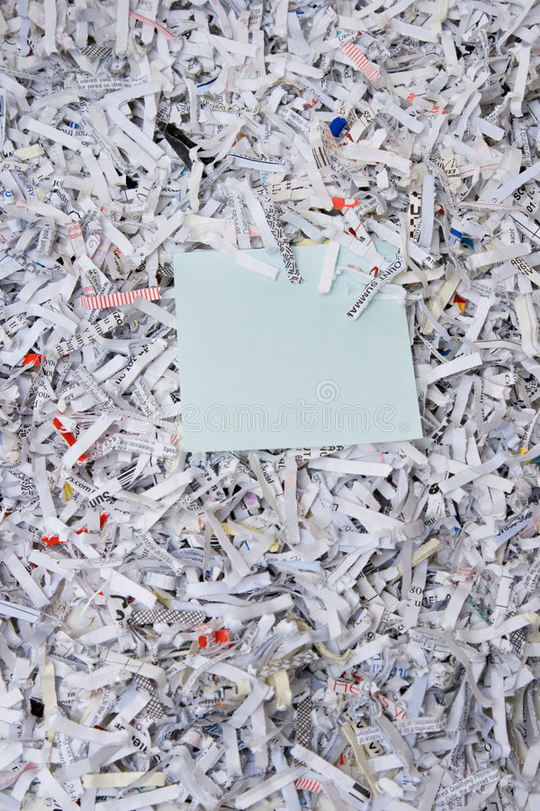 Download Shredded Paper & Sticky Note Stock Photo - Image: 4547212
