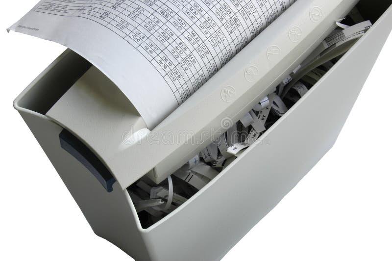 Shredder do escritório fotografia de stock