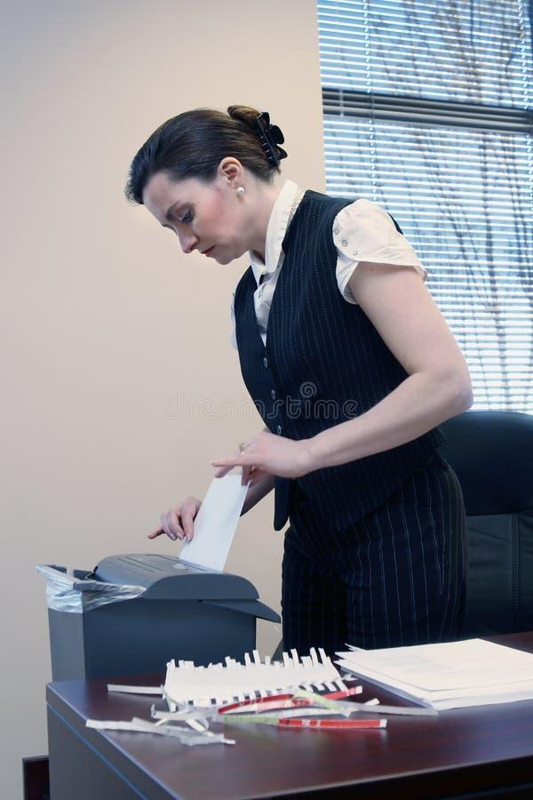 Shredding Documents stock image