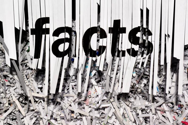 Shredding Facts royalty free stock photos