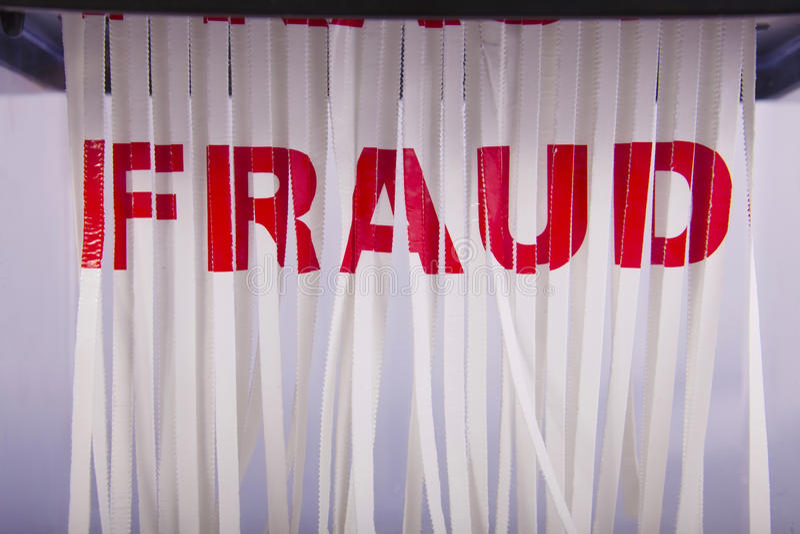 Shredding a fraude. fotos de stock royalty free