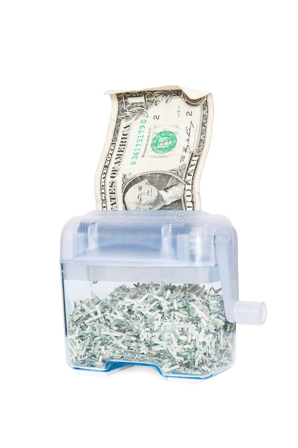 Download Shredding Your Money - $1 stock photo. Image of greenback - 23101928