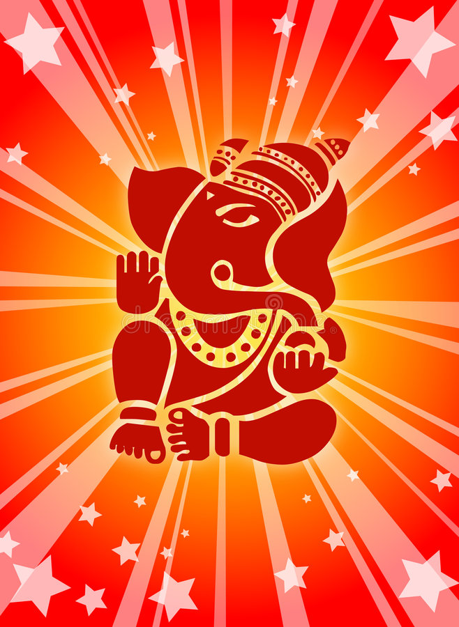 Download Shree Ganesha ! stock illustration. Illustration of prayer - 3140853