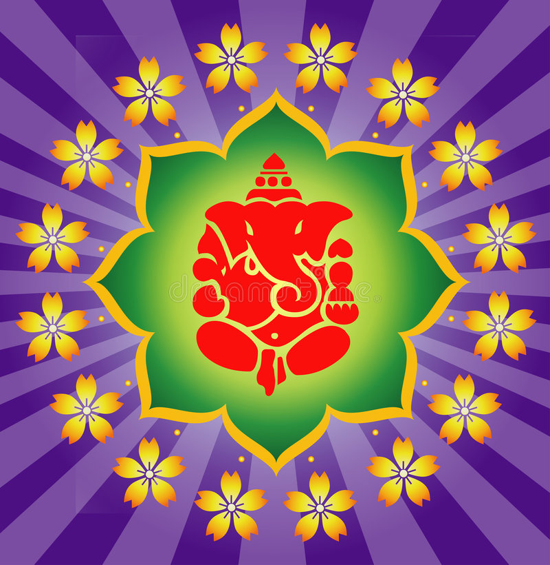 Download Shree Ganesha ! stock illustration. Illustration of spiritual - 5912626