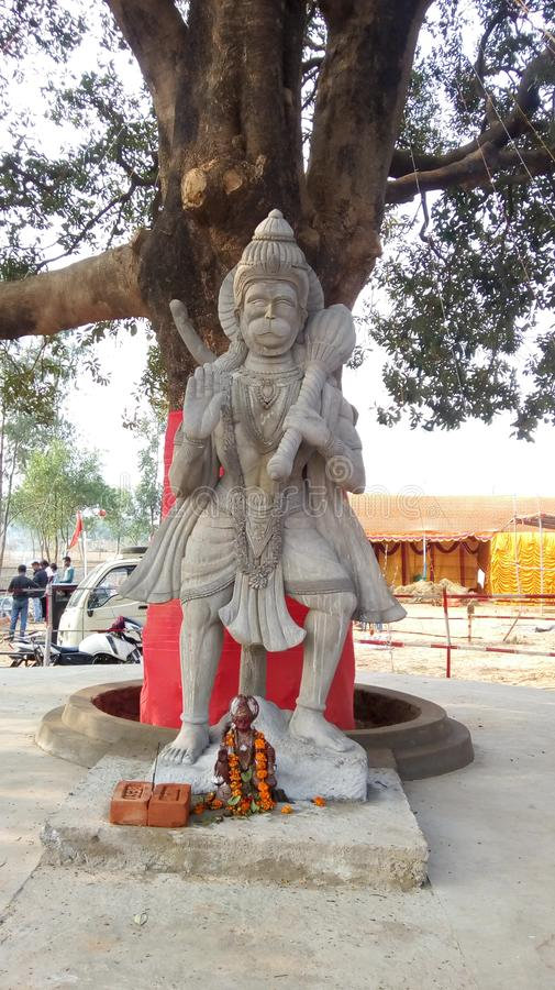 Shree-hanuman-Tempel bei Jaydev kendulia birbhul und bankura-Bezirk West-bengal india stockbild
