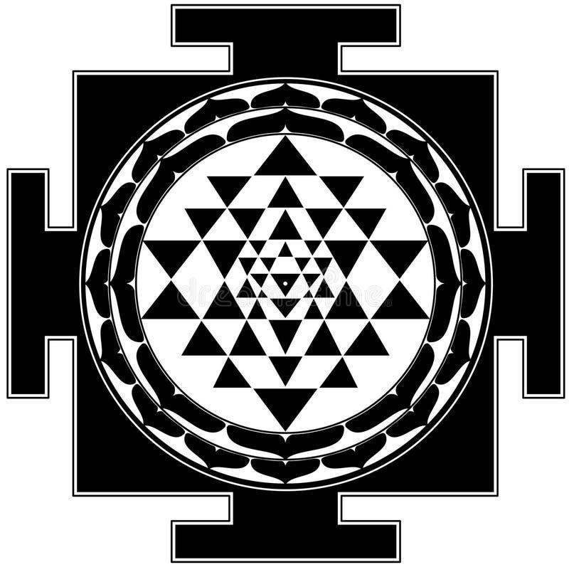 shreeyantra royaltyfri illustrationer