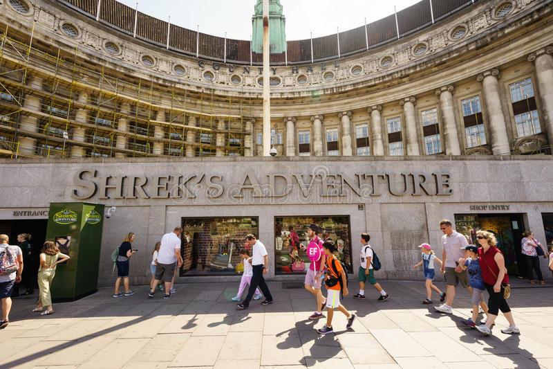 Shrek's冒险,伦敦 图库摄影
