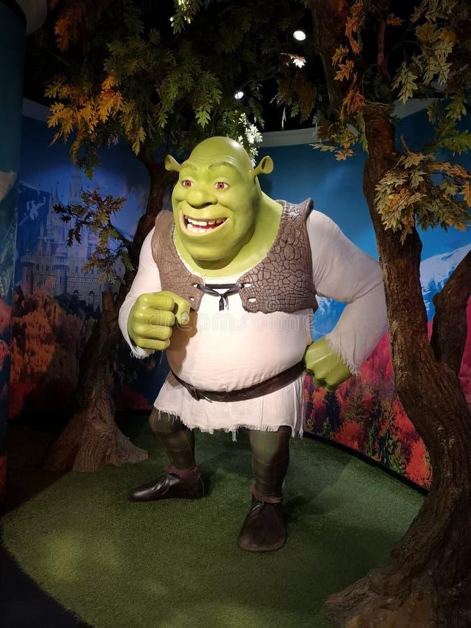 Shrek в доме стоковые фотографии rf