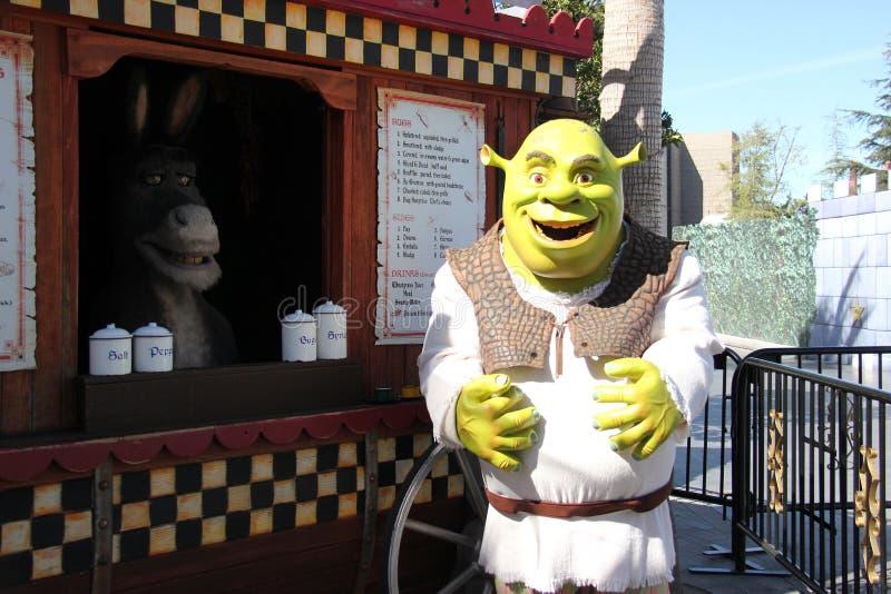 Shrek bij Universele Studio's Hollywood stock foto