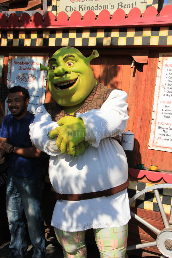 Shrek en los estudios universales Hollywood fotografía de archivo