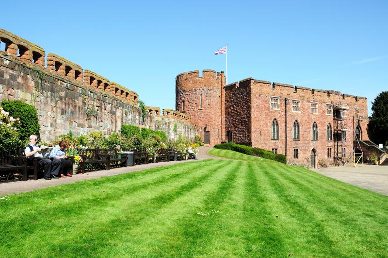 shrewsbury的城堡 免版税库存照片