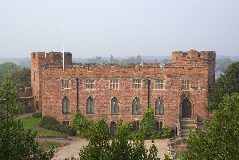 Shrewsbury castle stock image