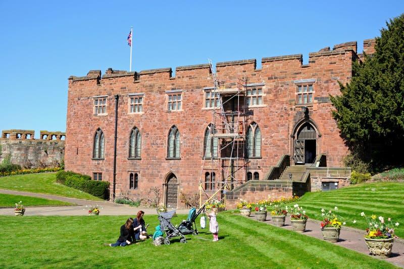shrewsbury slott royaltyfri bild
