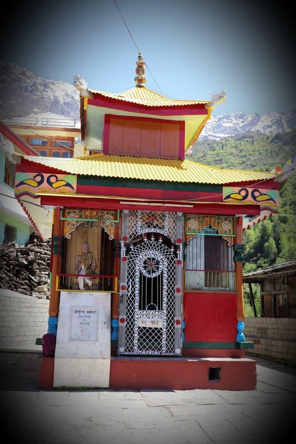 Shri巴德里Vishal籍寺庙,桑格拉谷,喜马偕尔邦 免版税库存照片