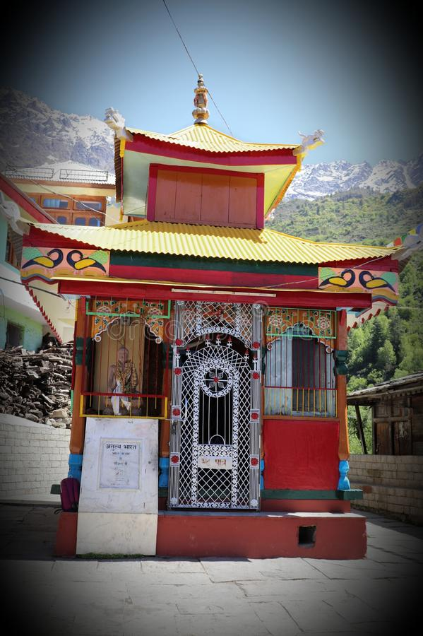 Shri Badri Vishal Ji Temple, vale de Sangla, Himachal Pradesh fotos de stock royalty free